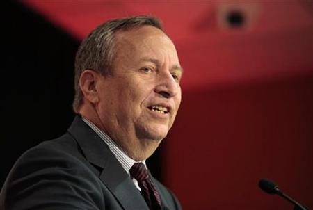 Lawrence H. Summers, Director of the White House's National Economic Council, speaks about the economic outlook and the financial sector at a luncheon hosted by ''The Economist'' magazine at Pace University in New York October 16, 2009. REUTERS/Nicholas Roberts