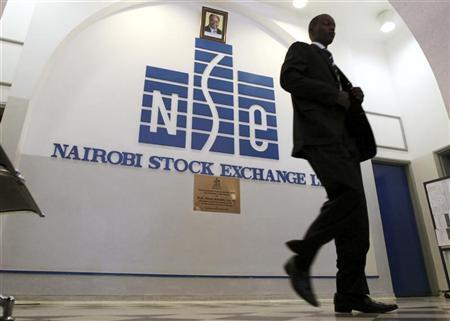 A man walks out of the Nairobi Stock Exchange in Kenya's capital Nairobi March 4, 2010. REUTERS/Noor Khamis