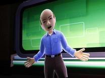 <p>Un avatar de Kinect en una pantalla durante una presentación en Las Vegas,ene 5 2011. Microsoft Corp vendió más de 8 millones de unidades de su sistema de control para videojuegos Kinect en los primeros 60 días desde su lanzamiento, superando su objetivo de 5 millones y eclipsando a Move, de su competidor Sony Corp. REUTERS/Rick Wilking</p>