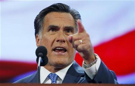 Former Republican presidential candidate and former Governor of Massachusetts Mitt Romney addresses the third session of the 2008 Republican National Convention in St. Paul, Minnesota September 3, 2008. REUTERS/Brian Snyder