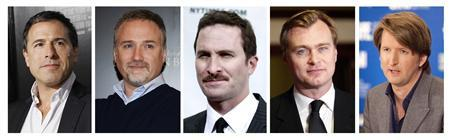 (L-R) Nominees for Best Director for the 63rd Directors Guild Award: David O. Russell (''The Fighter''), David Fincher (''The Social Network''), Darren Aronofsky (''Black Swan''), Christopher Nolan (''Inception') and Tom Hooper (''The King's Speech''). REUTERS/Staff/Files