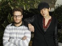"<p>""The Green Hornet"" cast members Seth Rogen (L) and Jay Chou, in Los Angeles, January 10, 2011. REUTERS/Mario Anzuoni</p>"