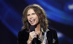 "<p>Steven Tyler speaks on stage after being announced as one the judges for the 10th season of the television show ""American Idol"" at the Forum in Inglewood, California September 22, 2010. REUTERS/Mario Anzuoni</p>"