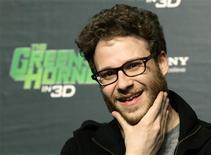 """<p>Seth Rogen, ator de """"O Besouro Verde"""" durante coletiva de imprensa para promover o fimle em Pequim. O filme liderou as bilheterias de cinema na América do Norte no fim de semana, apesar das críticas negativas para a adaptação cinematográfica em 3D. 17/01/2011 REUTERS/Jason Lee</p>"""