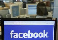 <p>The Facebook logo is displayed on a computer screen in Brussels April 21, 2010. REUTERS/Thierry Roge</p>