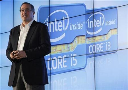 Intel CEO Paul Otellini talks during the company's unveiling of its second generation Intel Core processor family during a news conference at the Consumer Electronics Show (CES) in Las Vegas January 5, 2011. REUTERS/Rick Wilking