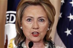 <p>Foto de archivo de la secretaria de Estado estadounidense, Hillary Clinton, quien visita México el lunes. REUTERS/Kevin Lamarque</p>