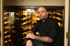 <p>Chef Chris Santos is seen in this undated handout photo. REUTERS/Melissa Hom/Handout</p>