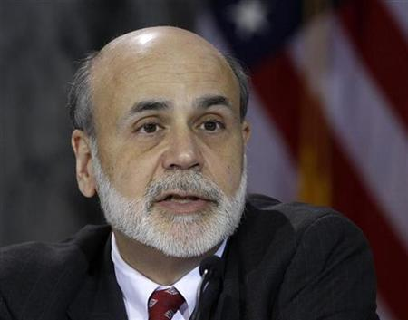 Chairman of the Federal Reserve Ben Bernanke speaks during the Financial Stability Oversight Council meeting at the Treasury Department to discuss the Volker Rule from the Dodd-Frank Act in Washington, January 18, 2011. REUTERS/Larry Downing