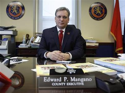 Nassau County Executive Edward P. Mangano poses in his office in Mineola, New York, January 26, 2011. REUTERS/Shannon Stapleton
