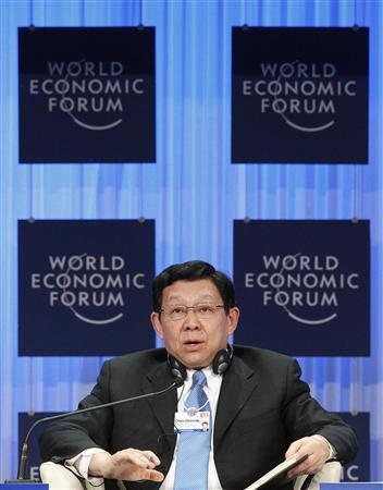 Minister of Commerce of the People's Republic of China, Chen Deming, attends a session at the World Economic Forum (WEF) in Davos, January 27, 2011. REUTERS/Christian Hartmann