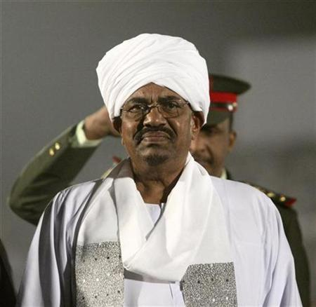 Sudan President Omar Hassan al-Bashir attends the opening ceremony of the African Championship of Nations (Chan) soccer match between Sudan and Gabon in Khartoum February 4, 2011. REUTERS/Stringer