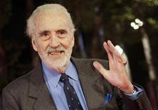 <p>Actor Christopher Lee poses on the red carpet during the Rome film festival October 15, 2009. REUTERS/Tony Gentile</p>