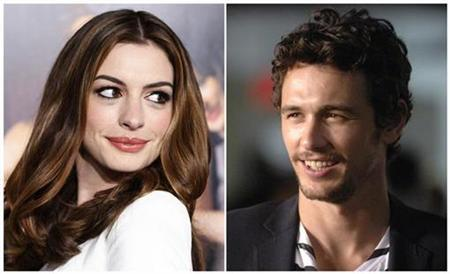 Oscar co-hosts Anne Hathaway and James Franco. REUTERS/Fred Prouser/Phil McCarten