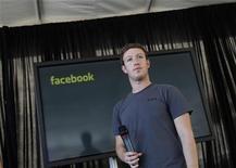 <p>O presidente-executivo e fundador do Facebook, Mark Zuckerberg, em coletiva de imprensa em San Francisco. 15/11/2011 REUTERS/Robert Galbraith</p>