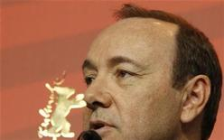 <p>Actor Kevin Spacey addresses a news conference to promote the movie 'Margin Call' at the 61st Berlinale International Film Festival in Berlin February 11, 2011. REUTERS/Tobias Schwarz</p>