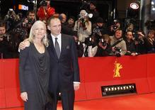 """<p>O diretor e ator Ralph Fiennes e a atriz Vanessa Redgrave chegam para a exibição do filme """"Coriolanus"""" durante o 61o Festival de Cinema de Berlim. 14/02/2011 REUTERS/Christian Charisius</p>"""