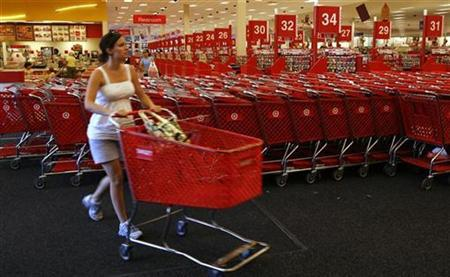 A woman shops in a Target store in Falls Church, Virginia August 19, 2008. REUTERS/Kevin Lamarque