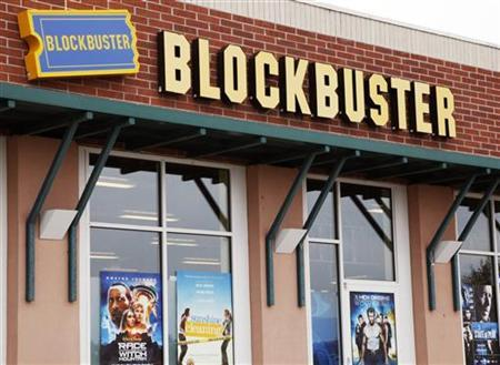 A Blockbuster movie rental store is seen in Golden, Colorado September 16, 2009. REUTERS/Rick Wilking