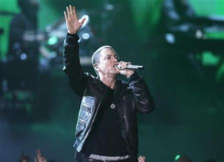 Eminem performs ''I Need A Doctor'' at the 53rd annual Grammy Awards in Los Angeles, February 13, 2011. REUTERS/Lucy Nicholson