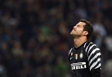 <p>Falha de Julio Cesar, goleiro do Inter de Milão, deu a vitória para o Bayern no último minuto do jogo. 03/10/2010 REUTERS/Alessandro Garofalo</p>