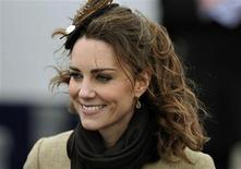 <p>Kate Middleton, the fiancee to Britain's Prince William, smiles during a Naming Ceremony and Service of Dedication for the Royal National Lifeboat Institution's (RLNI) new Atlantic 85 Lifeboat, the 'Hereford Endeavour', at Trearddur Bay Lifeboat Station, in Trearddur Bay, Anglesey in north Wales February 24, 2011. REUTERS/Dylan Martinez</p>
