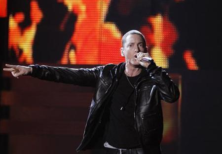 Eminem performs ''Love The Way You Lie'' at the 53rd annual Grammy Awards in Los Angeles, California, February 13, 2011. REUTERS/Lucy Nicholson