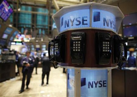 Broken phones are seen on the floor of the New York Stock Exchange, February 23, 2011. REUTERS/Brendan McDermid