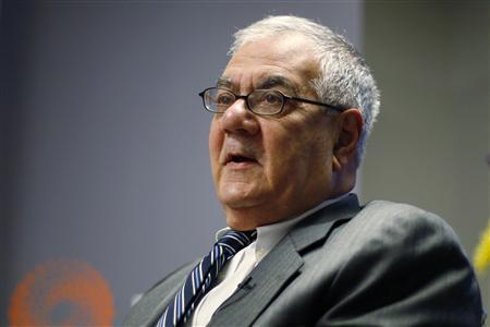 Representative Barney Frank (D-MA) speaks during the Reuters Future Face of Finance Summit in Washington, March 2, 2011. REUTERS/Hyungwon Kang