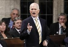 <p>New Democratic Party leader Jack Layton speaks during Question Period in the House of Commons on Parliament Hill in Ottawa March 1, 2011. REUTERS/Chris Wattie</p>