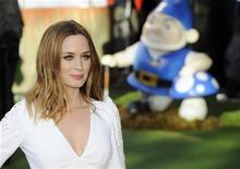 """<p>Atriz britânica Emily Blunt na estreia do filme """"Gnomeu e Julieta"""" em Londres, em janeiro. 30/01/2011 REUTERS/Paul Hackett</p>"""