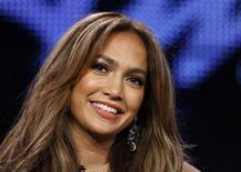 "<p>Judge Jennifer Lopez takes part in a panel discussion for the show ""American Idol"" at the Fox Broadcasting Company Winter Press Tour 2011 for the Television Critics Association in Pasadena, California January 11, 2011. REUTERS/Lucy Nicholson</p>"