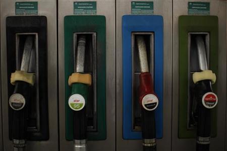 Fuel pumps are seen at a Cepsa Petroleum petrol station in Cuevas del Becerro, near Malaga, southern Spain March 4, 2011. REUTERS/Jon Nazca