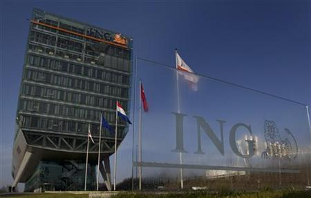 Exterior of the Dutch bancassurer ING before the presentation of the company's 2010 annual results in Amsterdam February 16, 2011. REUTERS/Jerry Lampen