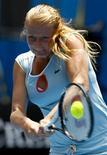 <p>Алла Кудрявцева на турнире Australian Open в Мельбурне 18 января 2011 года. Россиянка Алла Кудрявцева вышла во второй круг турнира Indian Wells, проходящего в США. REUTERS/David Gray</p>