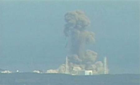 Smoke rises from Fukushima Daiichi nuclear power complex in this still image from video footage March 14, 2011. REUTERS/NTV via Reuters TV