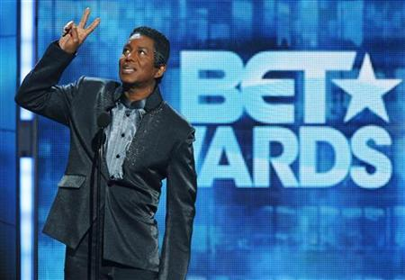Singer Jermaine Jackson introduces a segment honoring his late younger brother Michael Jackson at the 2010 BET Awards in Los Angeles June 27, 2010. REUTERS/Mario Anzuoni
