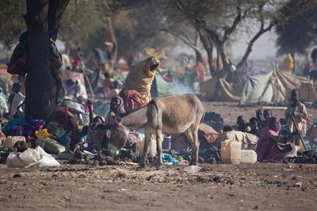 Tens of thousands of Internally Displaced Persons (IDP) who fled their village, following clashes between the Government of Sudan and rebel movements, sought protection at the Zamzam IDP camp in North Darfur, seen here in this March 15, 2011 handout photograph. REUTERS/UNAMID/Olivier Chassot