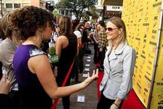 "<p>Jodie Foster gives an interview as she arrives for the premiere of ""The Beaver"" at The Paramount Theater during the SXSW Film Festival in Austin, Texas March 16, 2011. REUTERS/Rahav Segev</p>"