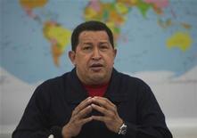 <p>Foto de archivo del presidente de Venezuela, Hugo Chávez, durante una reunión del bloque del ALBA en Caracas, mar 4 2011. REUTERS/Miraflores Palace/Handout Imagen para uso no comercial, ni ventas, ni archivos. Solo para uso editorial. No para su venta en marketing o campañas publicitarias. Esta imagen fue entregada por un tercero y es distribuida, exactamente como fue recibida por Reuters, como un servicio para clientes.</p>