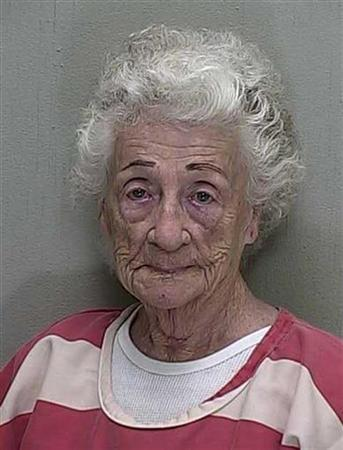 The booking mugshot of 92-year-old Helen Staudinger is seen in this handout released March 23, 2011. REUTERS/Courtesy of Marion County Sheriffs Office/Handout