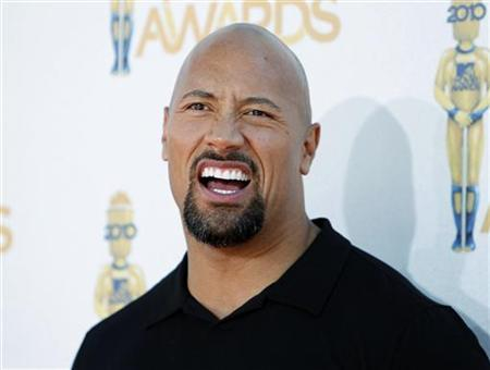 Actor Dwayne Johnson arrives at the 2010 MTV Movie Awards in Los Angeles, June 6, 2010. REUTERS/Danny Moloshok