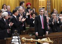 <p>Canada's Liberal Party leader Michael Ignatieff stands to vote on the non-confidence motion in the House of Commons on Parliament Hill in Ottawa March 25, 2011. REUTERS/Chris Wattie</p>