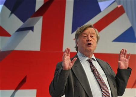 Justice Secretary Ken Clarke speaks at the Conservative spring forum, in Cardiff March 6, 2011. REUTERS/Toby Melville