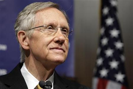 Senate Majority Leader Harry Reid (D-NV) listens to a question from a reporter during a news conference in Las Vegas, Nevada November 3, 2010. REUTERS/Las Vegas Sun/Steve Marcus