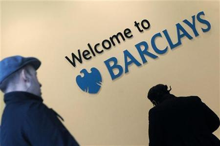 Customers enter a branch of Barclays bank in London, February 16, 2010. REUTERS/Toby Melville