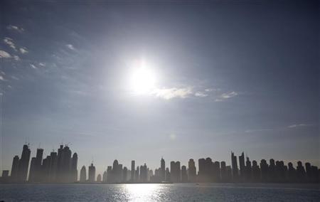 The Marina area is seen from Nakheel's Palm Jumeirah in Dubai December 14, 2009. REUTERS/Steve Crisp