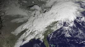 <p>Severe storm systems are seen over the eastern U.S. in a NOAA satellite visualization taken February 28, 2011. REUTERS/NOAA/Handout</p>