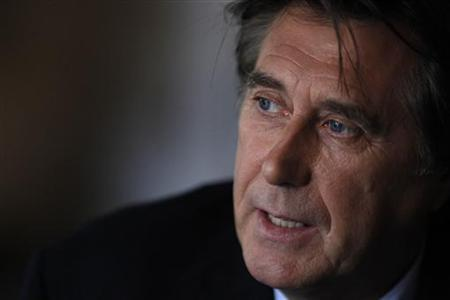 English singer Bryan Ferry is pictured during an interview promoting his new new album ''Olympia'' in Berlin, October 12, 2010. REUTERS/Thomas Peter