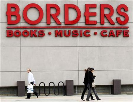 People walk past a Borders bookstore in San Diego, California February 16, 2011. REUTERS/Mike Blake